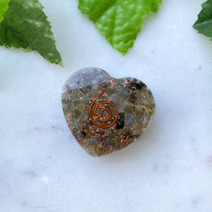 Orgonite Heart Small- Labradorite