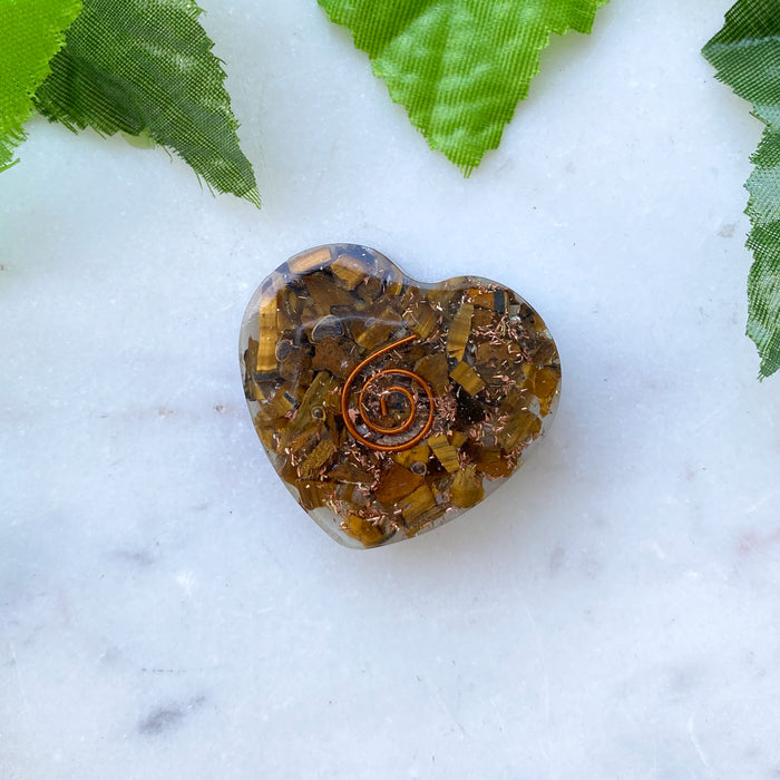 Orgonite Heart Small- Tigers Eye
