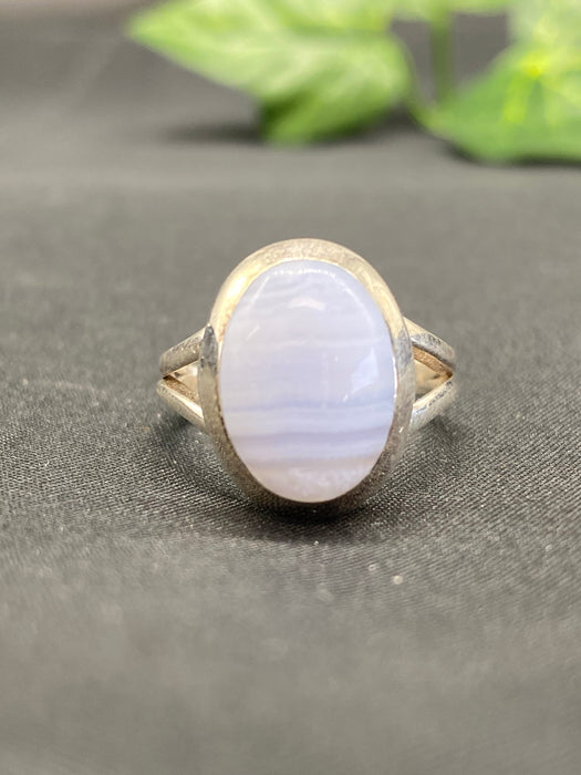 Blue Lace Agate Oval Ring BL5