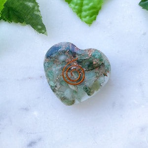 Orgonite Heart Small- Green Aventurine