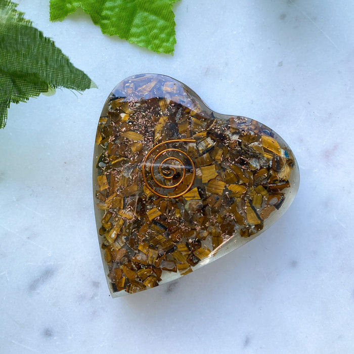 Orgonite Heart - Tigers Eye