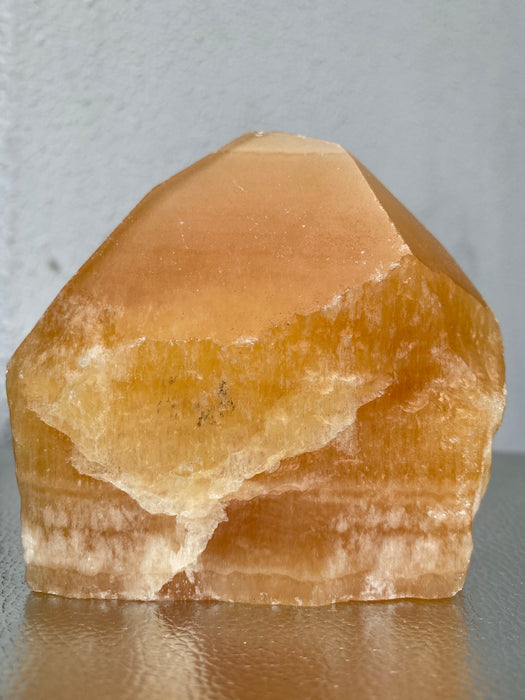 Orange Calcite Rough Point OCR01