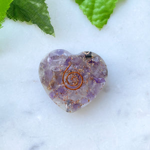 Orgonite Heart Small- Amethyst