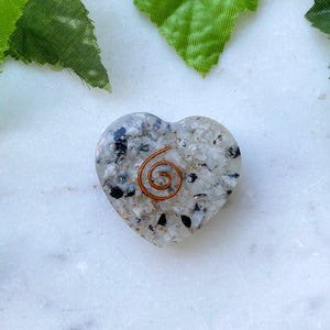 Orgonite Heart Small- Rainbow Moonstone