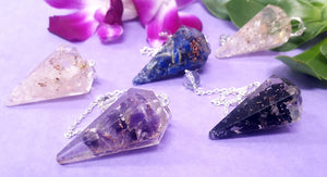 Orgonite faceted Pendulum 5pc
