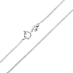 "Box design Silver Chain 16""(40 cm)"