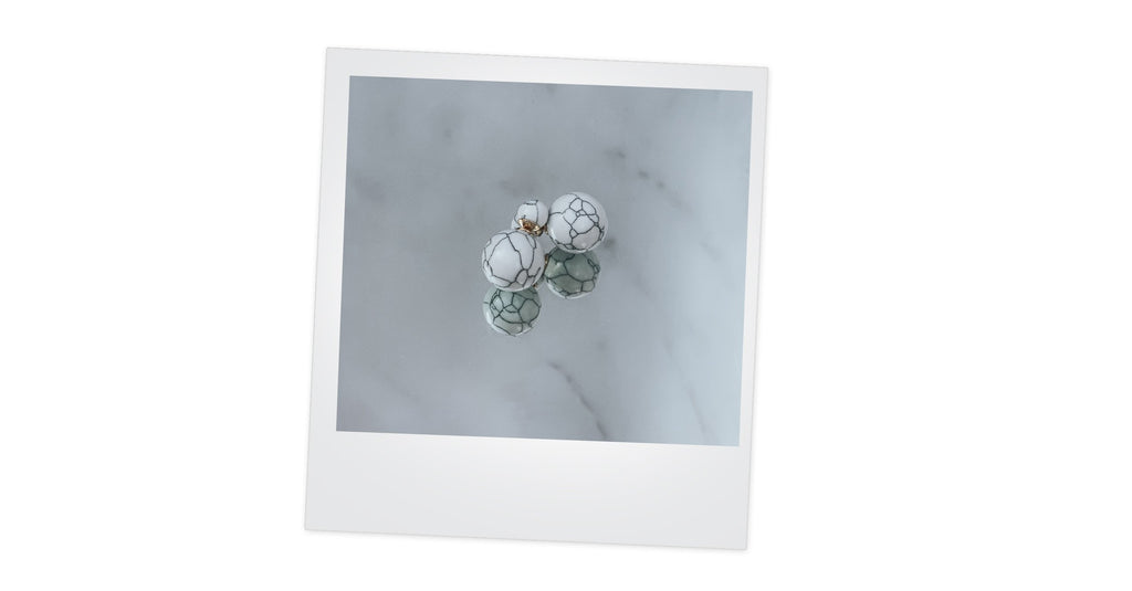 Marble earrings - Aurosa premium lifestyle beer