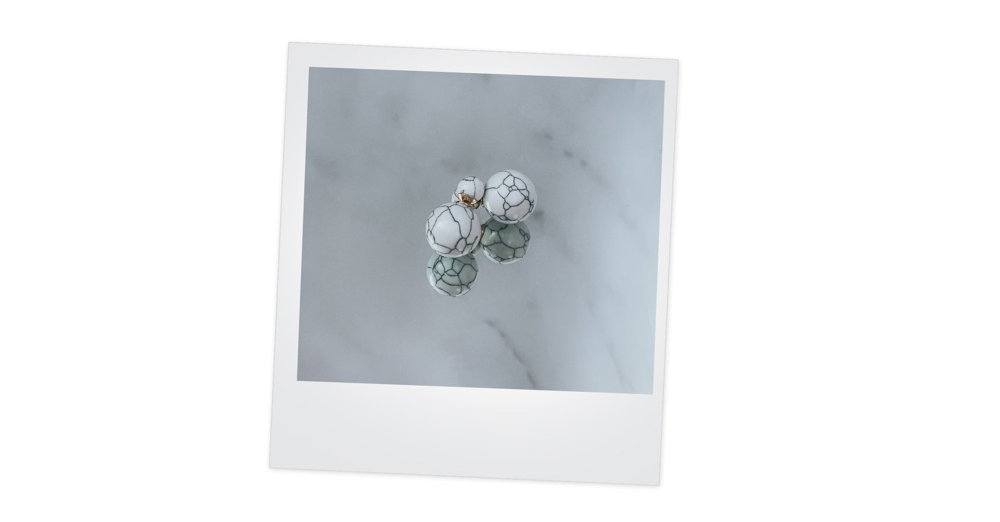 AUROSA WHITE MARBLE EARRINGS