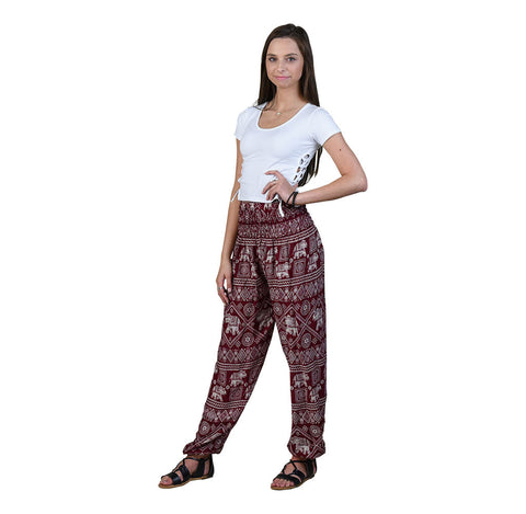 Diamond Cherry Harem Pants on Model