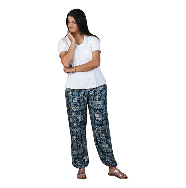 Diamond Peacock Harem Pants on Model