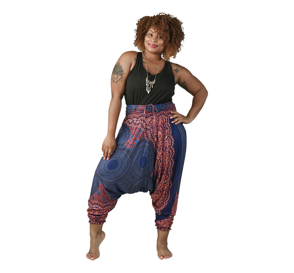 Zoey Blueberry Harem Pants on Model