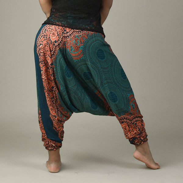 Zoey Peacock Harem Pants Rear