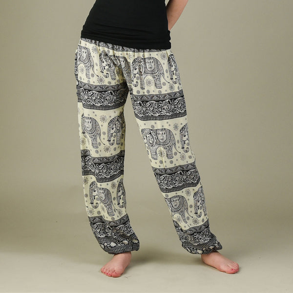 Caira Black Harem Pants Front View