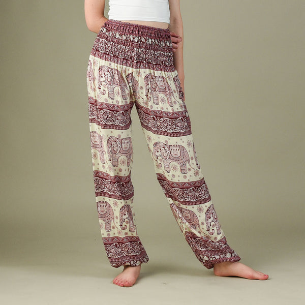 Caira Cherry Harem Pants Front View