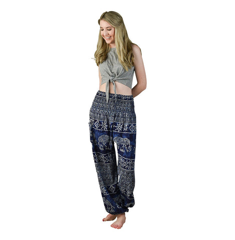 Teddy Blueberry Harem Pants on Model