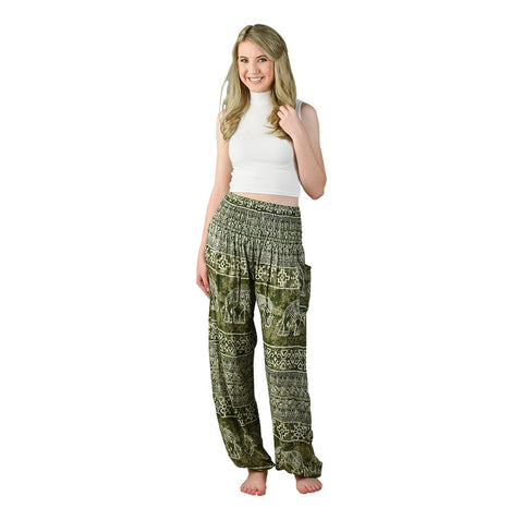 Teddy Pear Harem Pants on Model
