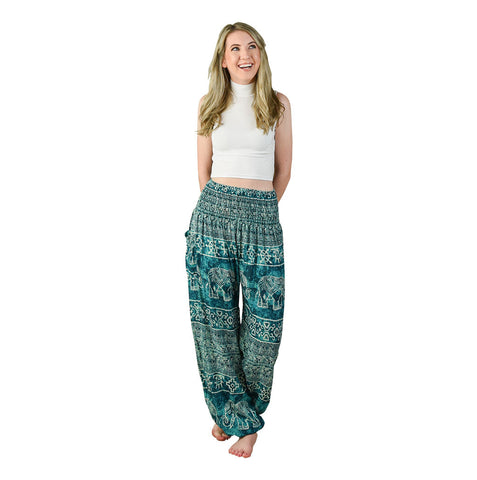 Teddy Aqua Harem Pants on Model