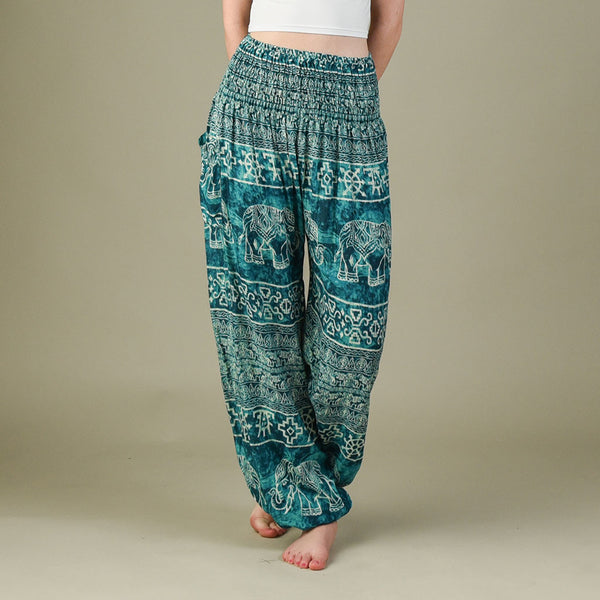 Teddy Aqua Harem Pants Front View