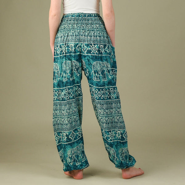 Teddy Aqua Harem Pants Rear View