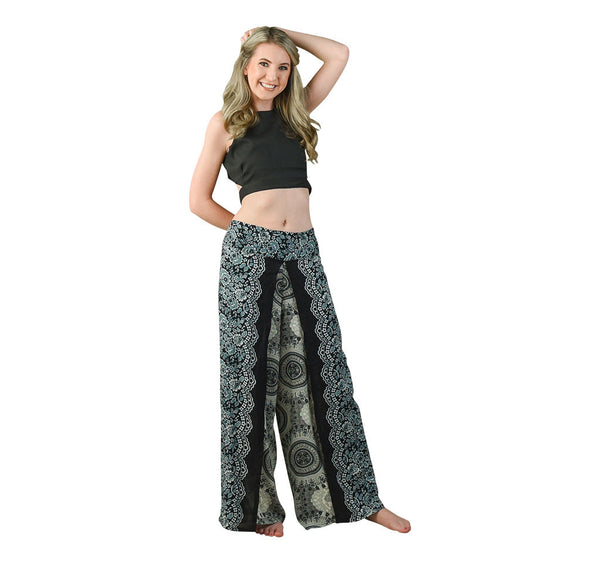 Trisha Black Harem Pants on Model