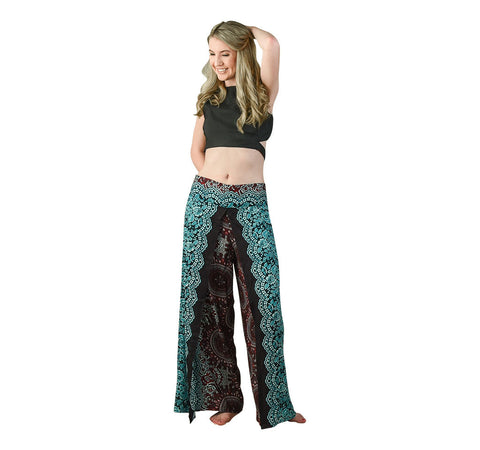 Trisha Blueberry Harem Pants on Model