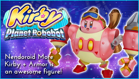 Kirby plus Robobot Armor Nendoroid More Blog Banner Art