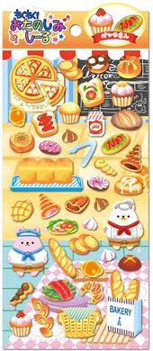 Bakery Bear Puffy Stickers assorted baking images