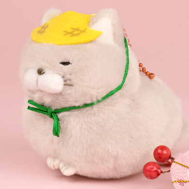 AMUSE Hige Manjyu Hotoke Cat Plush with Ball Chain