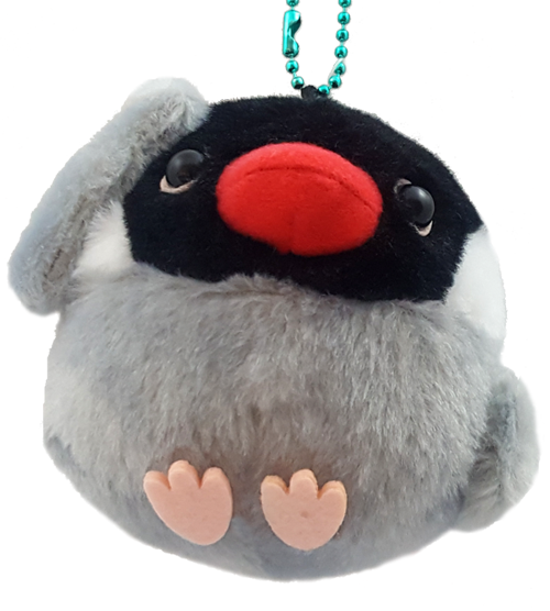 AMUSE Kotori Tai Java Sparrow Plush with Ball Chain