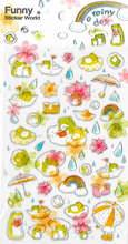 A Rainy Day Frog Gel Stickers