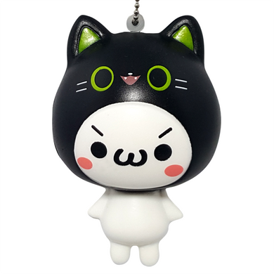 Black Emoji Cat Squishy