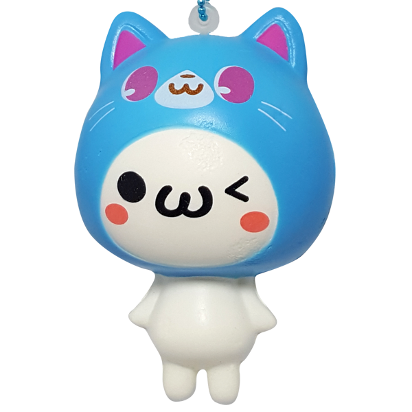 Blue Emoji Cat Squishy