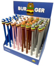 Burger Character Pens in Display Box