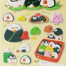 Kamio Coro Coro Cororin Sushi Penguins Puffy Stickers
