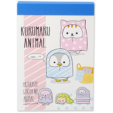 Kurumaru Animal Mini Notepad by Crux