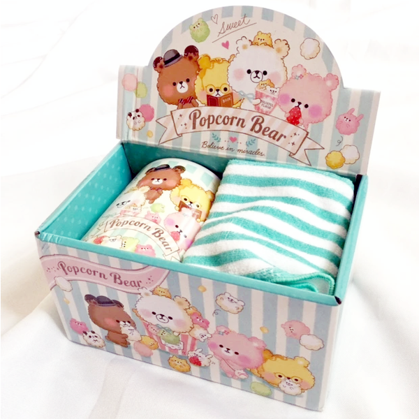 Crux Popcorn Bear Mug and Cloth Gift Set