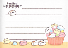 Kamio Funifuni Marshmallow Mini Notepad Page Design 2