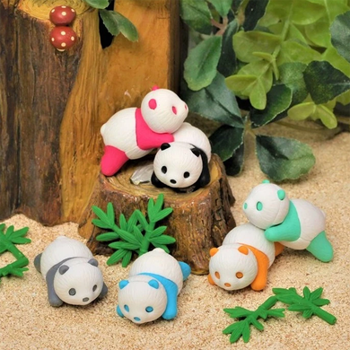 Iwako Baby Panda Erasers in Choice of Color
