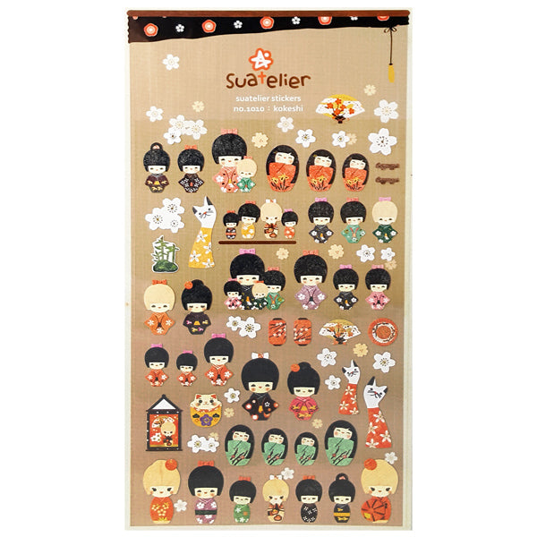 Suatelier Paper Kokeshi Stickers