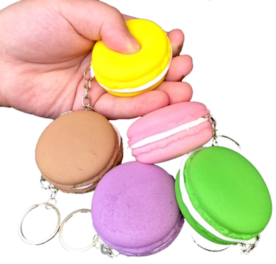 Macaroon Squishy Key Ring