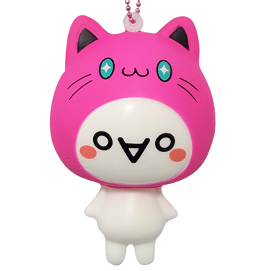 Magenta Emoji Cat Squishy