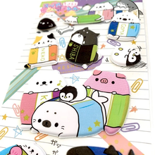 Keshikko Stationery Animals Puffy Stickers