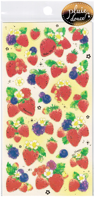 Pluie Douce Strawberry Stickers by Mind Wave