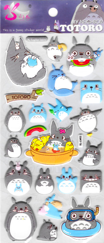 My Neighbor Totoro Puffy Stickers