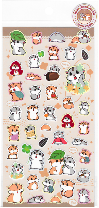 Nekoni Original Designs Hamster Stickers