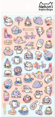 Nekoni Original Designs Pastel Cat Stickers