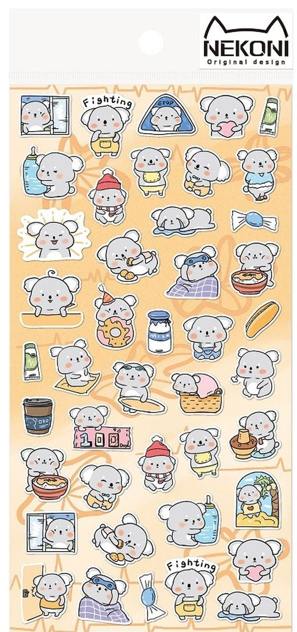 Nekoni Originals Koala Sticker Sheet