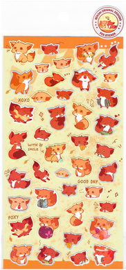 Nekoni Original Designs Red Fox Stickers