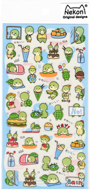 Nekoni Original Designs Turtle Stickers