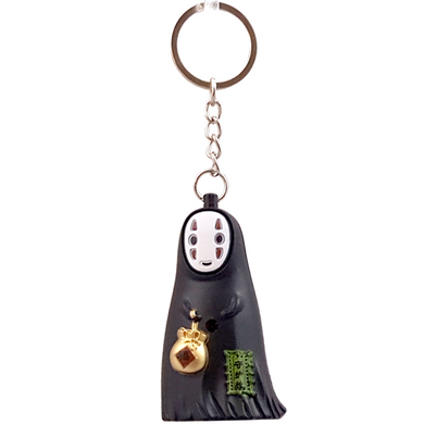 Kaonashi No-Face Flashlight Key Ring in Choice of Style